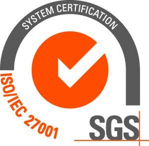 Systemowy znak certyfikacji SGS (ISO/IEC 27001)