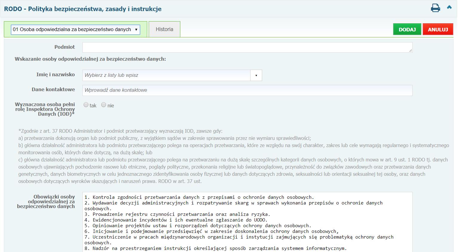 moduł dokumentacja rodo, rozporządzenie o ochronie danych osobowych