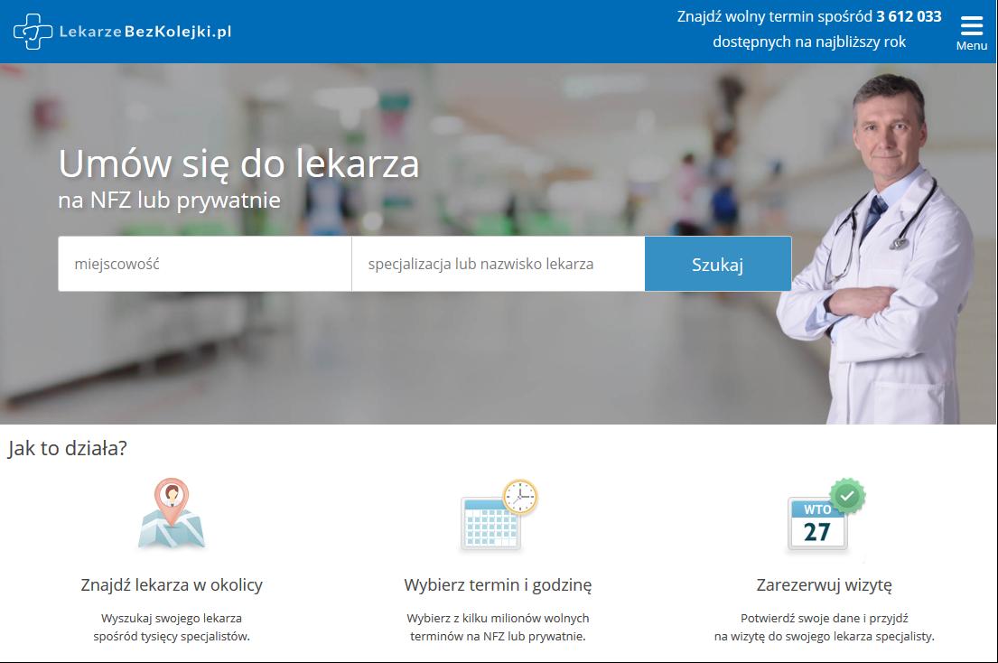 serwis LekarzeBezKolejki.pl