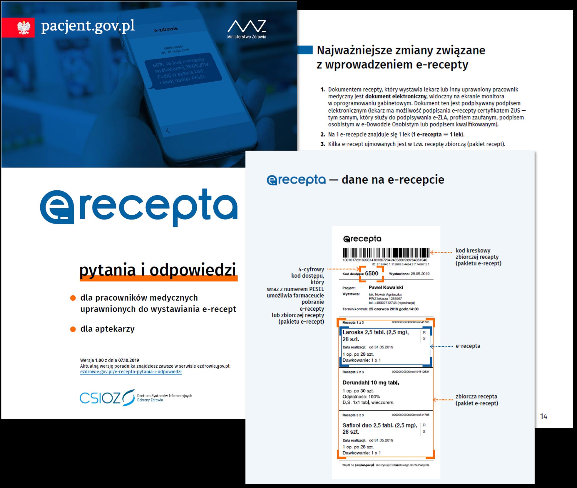 e-Recepta – pytania iodpowiedzi