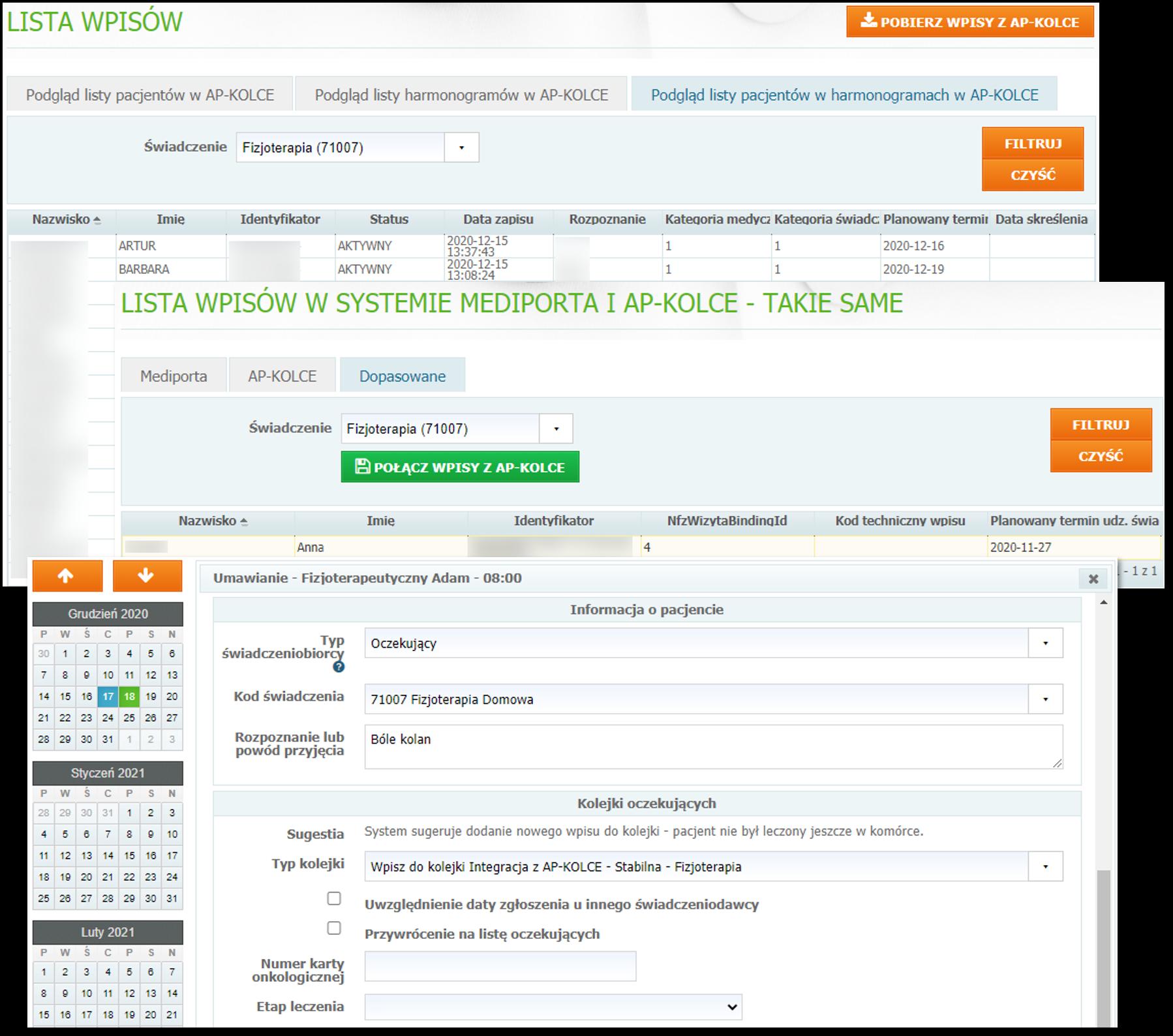 Integracja z aplikacją Kolejki Centralne (AP-KOLCE) w systemie Mediporta