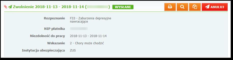 e-Zwolnienie (e-ZLA) wsystemie Mediporta