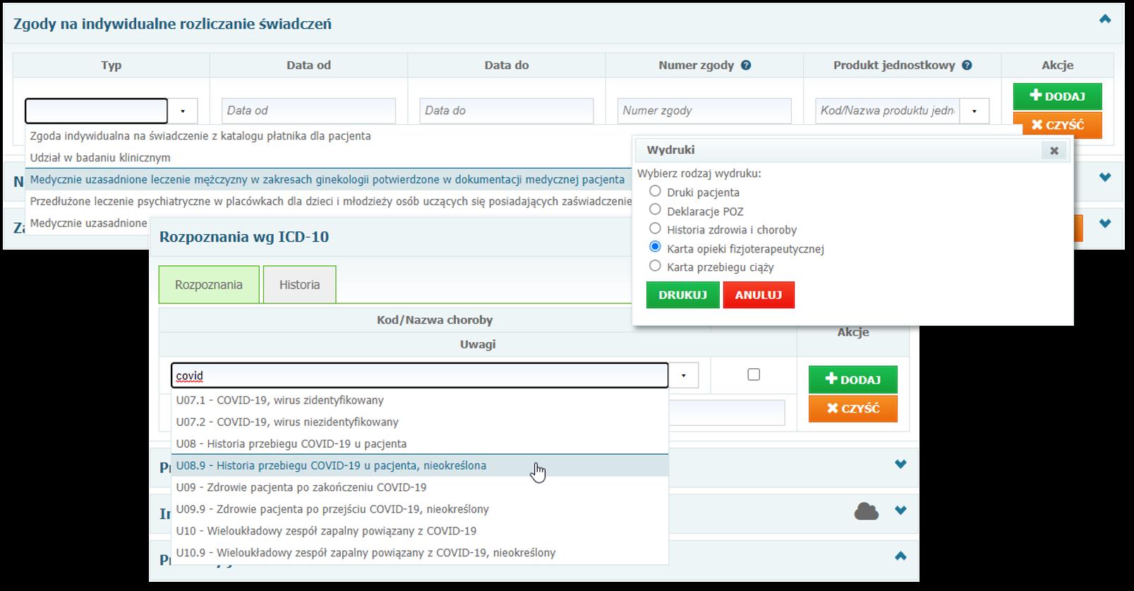 Dostosowanie systemu Mediporta dobieżących przepisów iwymogów NFZ