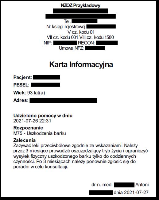 Przykładowy dokument wpostaci elektronicznej (plik PDF) – karta informacyjna